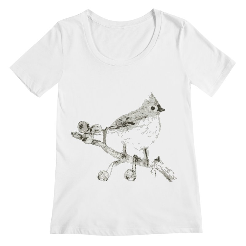 Perched Women's Scoopneck by samanthalilley's Artist Shop