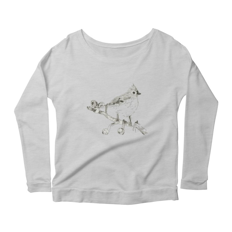 Perched Women's Longsleeve Scoopneck  by samanthalilley's Artist Shop