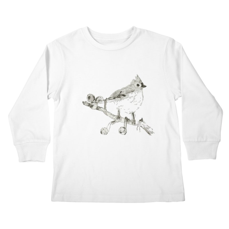 Perched Kids Longsleeve T-Shirt by samanthalilley's Artist Shop