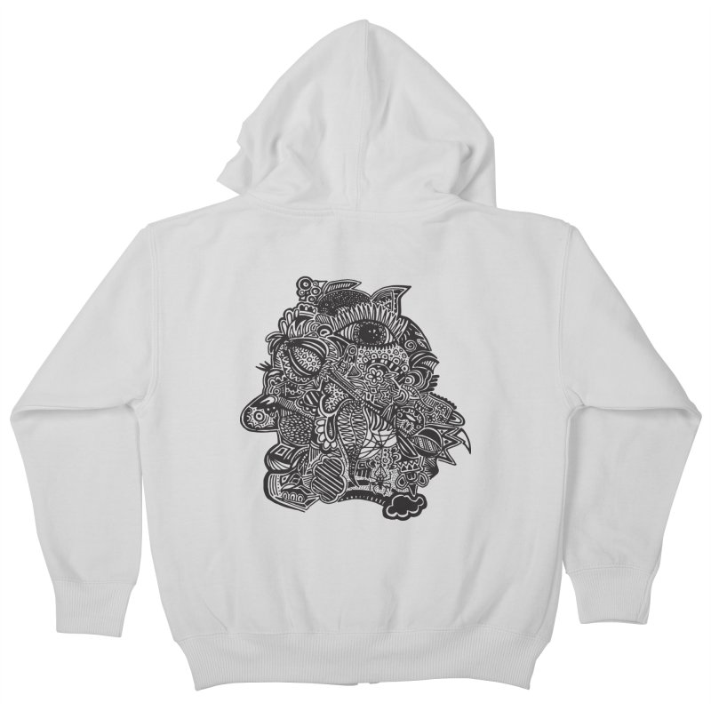 Face It Kids Zip-Up Hoody by samanthalilley's Artist Shop