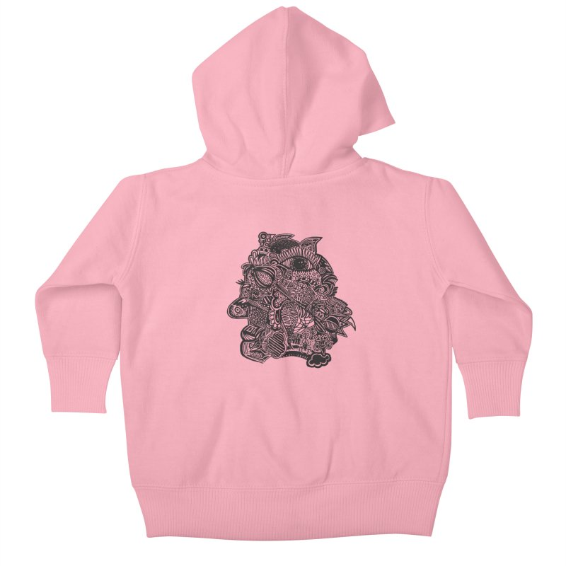 Face It Kids Baby Zip-Up Hoody by samanthalilley's Artist Shop