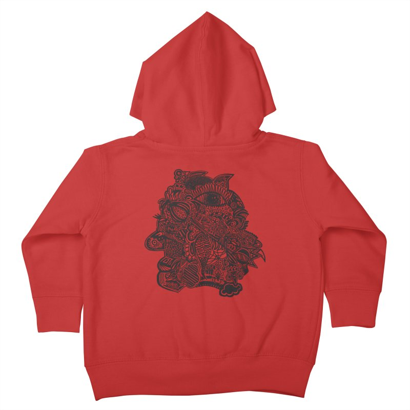Face It Kids Toddler Zip-Up Hoody by samanthalilley's Artist Shop
