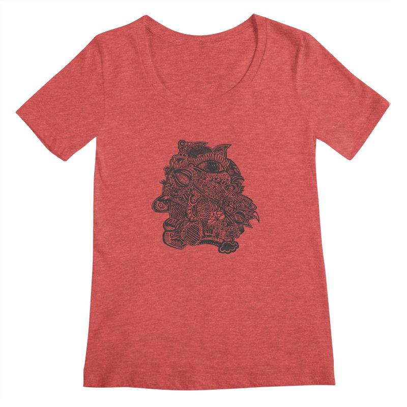 Face It Women's Scoopneck by samanthalilley's Artist Shop