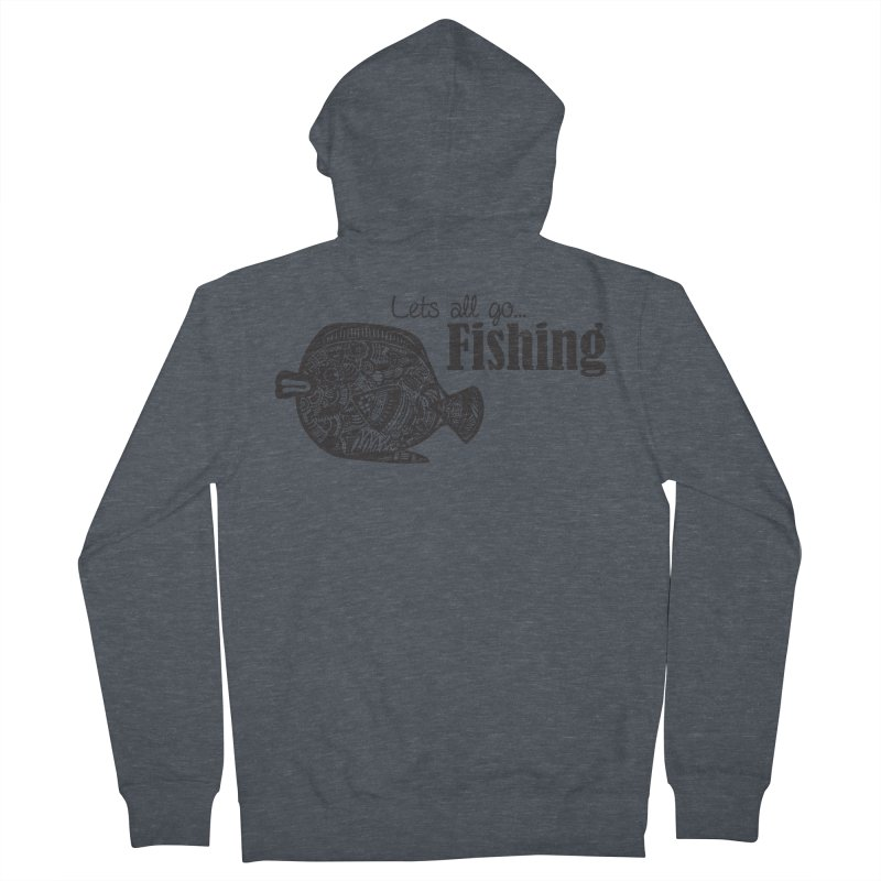 Let's all go fishing... Women's Zip-Up Hoody by samanthalilley's Artist Shop