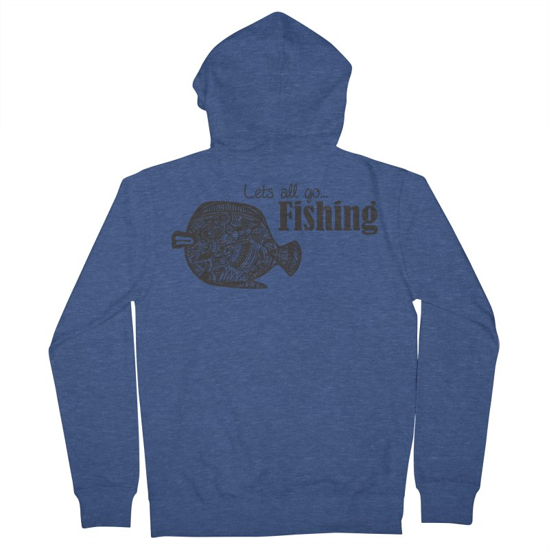 Let's all go fishing... Men's Zip-Up Hoody by samanthalilley's Artist Shop