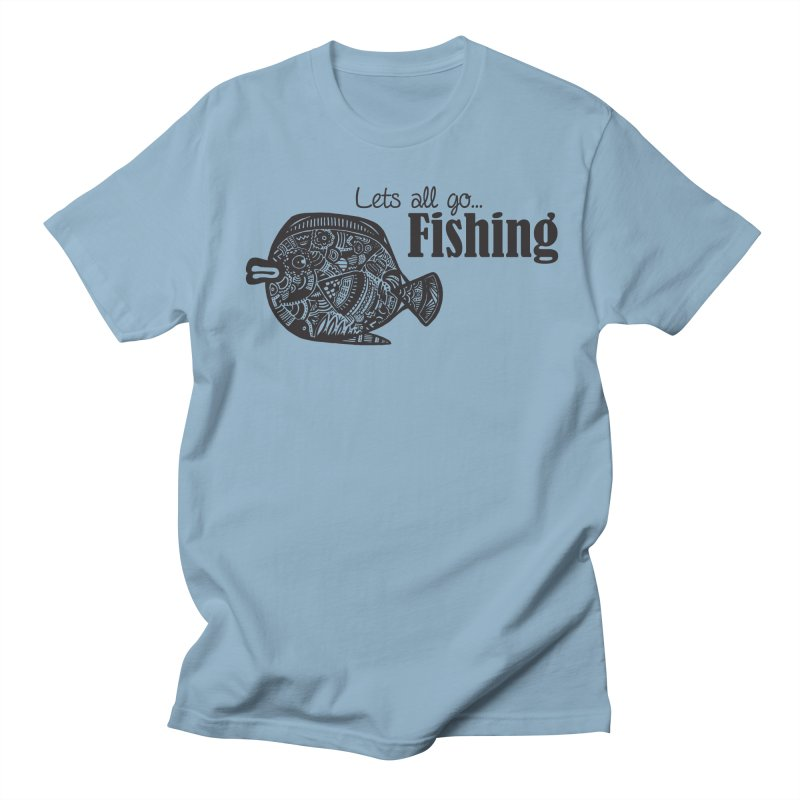 Let's all go fishing... Men's T-Shirt by samanthalilley's Artist Shop