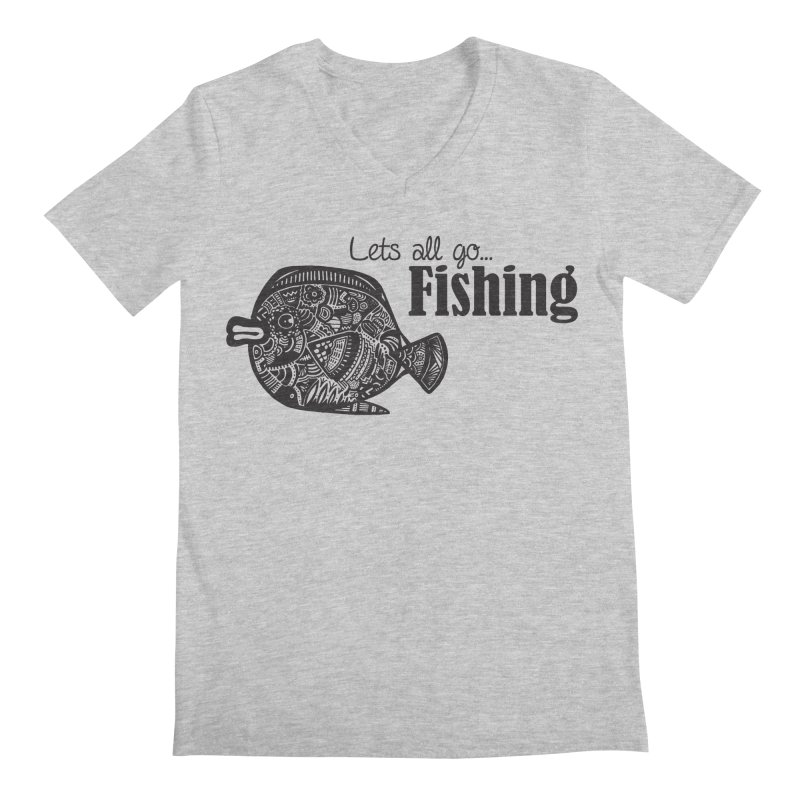 Let's all go fishing... Men's V-Neck by samanthalilley's Artist Shop