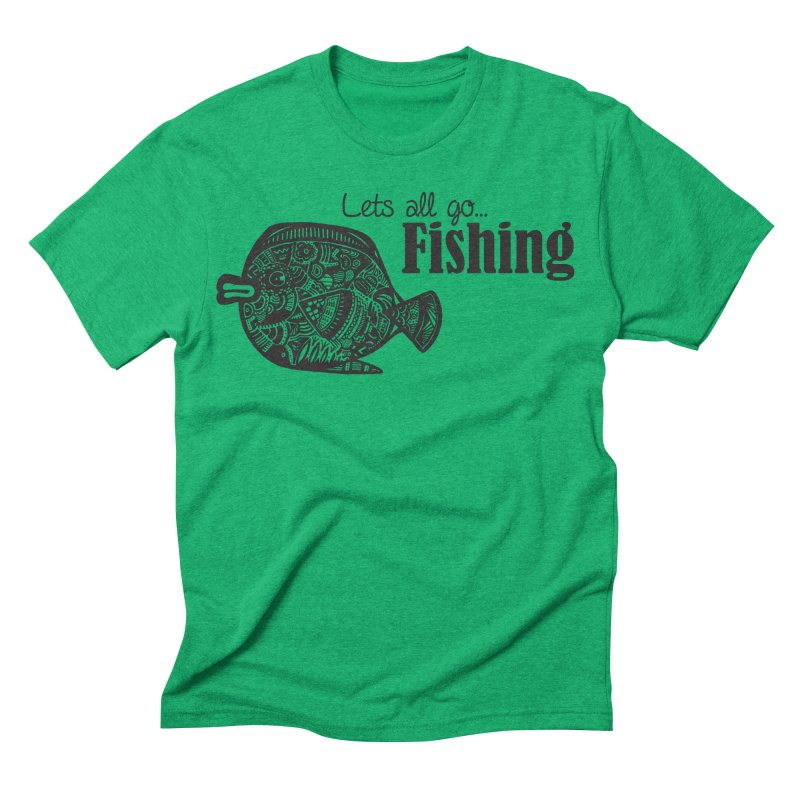 Let's all go fishing... Men's Triblend T-shirt by samanthalilley's Artist Shop