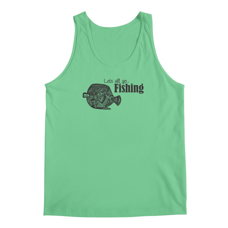 Let's all go fishing... Men's Tank by samanthalilley's Artist Shop