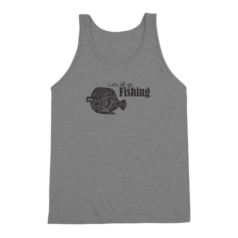 Let's all go fishing... Men's Triblend Tank by samanthalilley's Artist Shop
