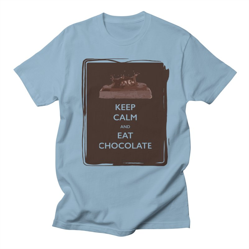 Keep Calm & Eat Chocolate Men's T-shirt by samanthalilley's Artist Shop