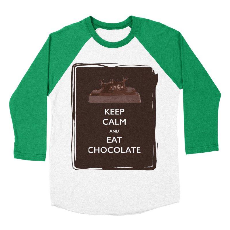 Keep Calm & Eat Chocolate Women's Baseball Triblend T-Shirt by samanthalilley's Artist Shop