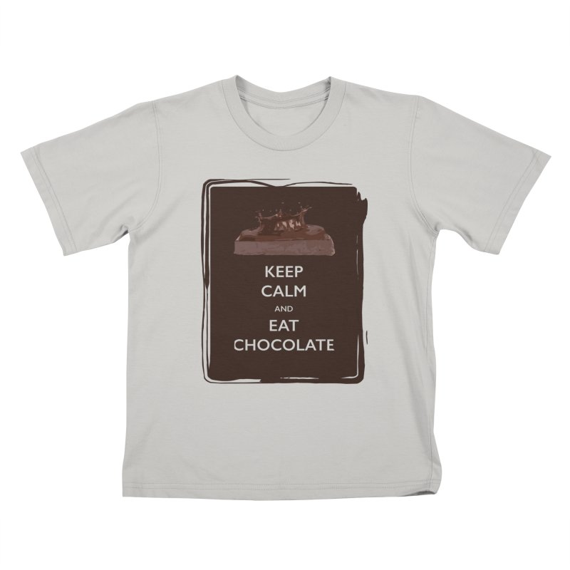 Keep Calm & Eat Chocolate Kids T-shirt by samanthalilley's Artist Shop