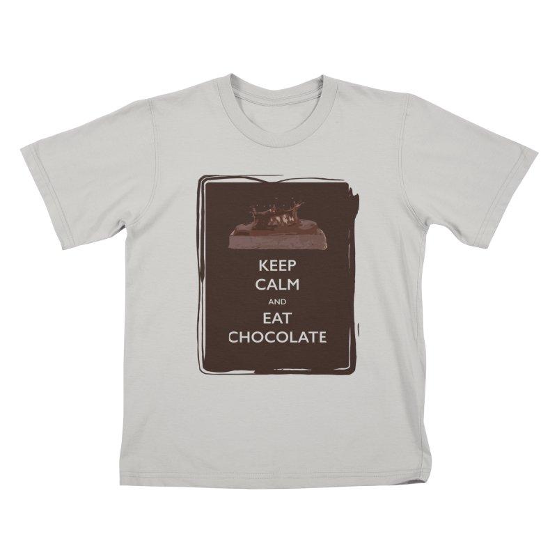 Keep Calm & Eat Chocolate Kids T-Shirt by samanthalilley's Artist Shop