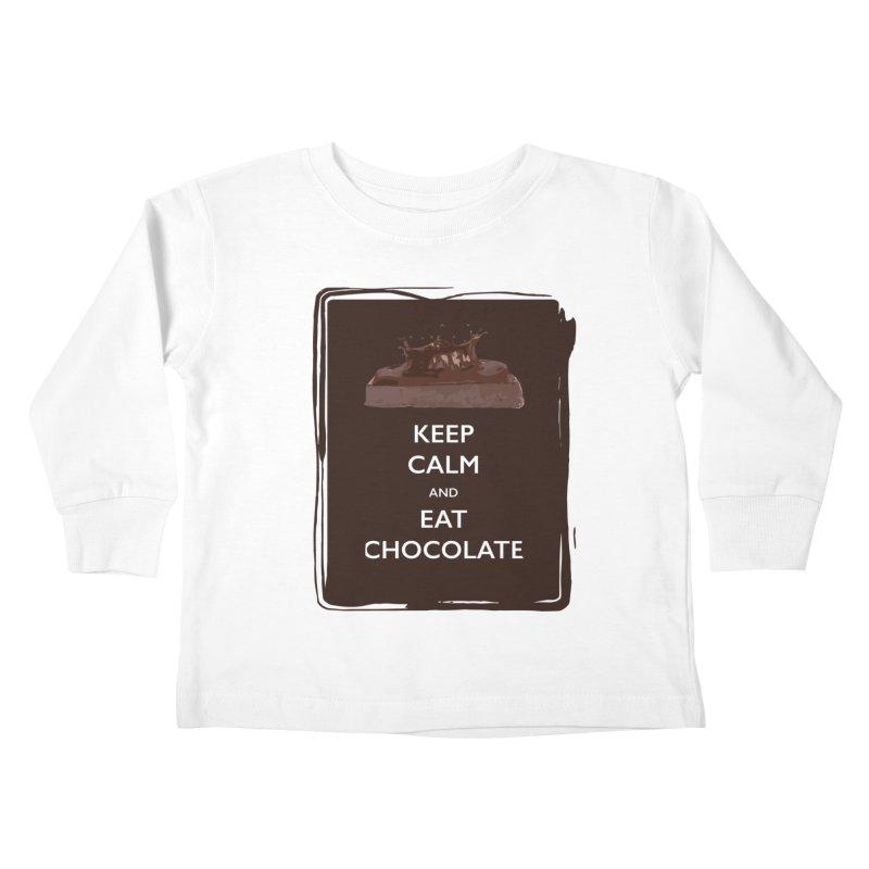 Keep Calm & Eat Chocolate Kids Toddler Longsleeve T-Shirt by samanthalilley's Artist Shop