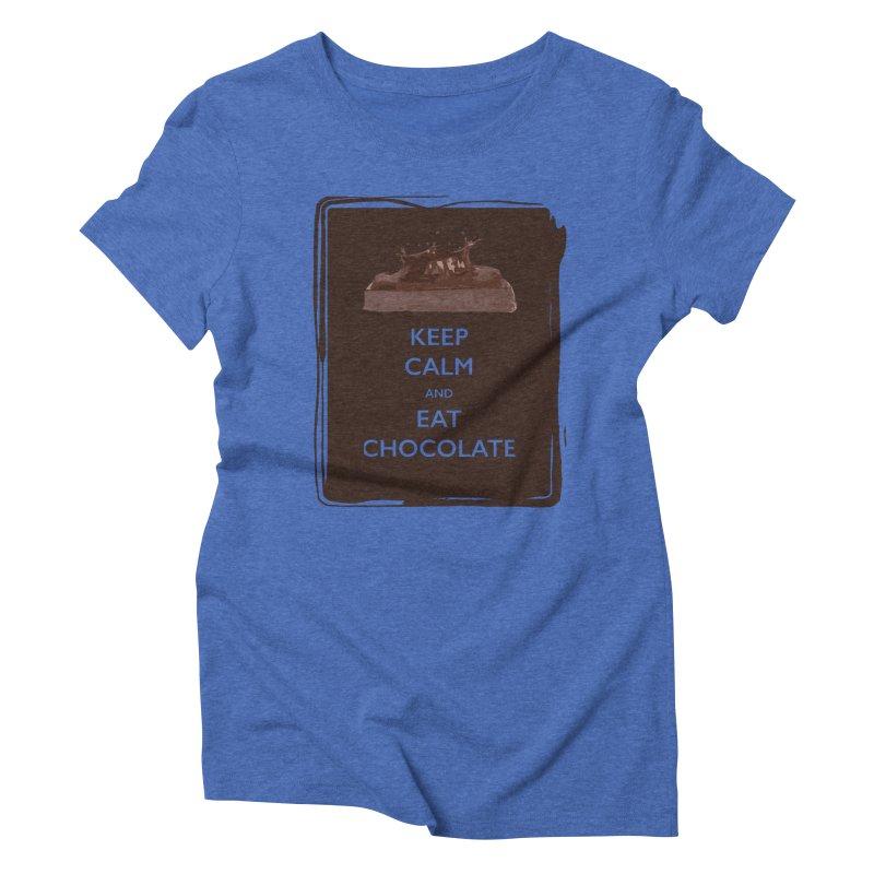 Keep Calm & Eat Chocolate Women's Triblend T-shirt by samanthalilley's Artist Shop