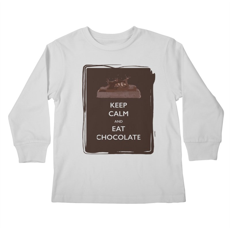 Keep Calm & Eat Chocolate Kids Longsleeve T-Shirt by samanthalilley's Artist Shop