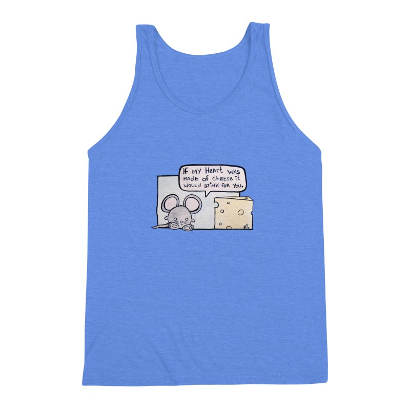 Stinking Cheese Men's Triblend Tank by samanthalilley's Artist Shop