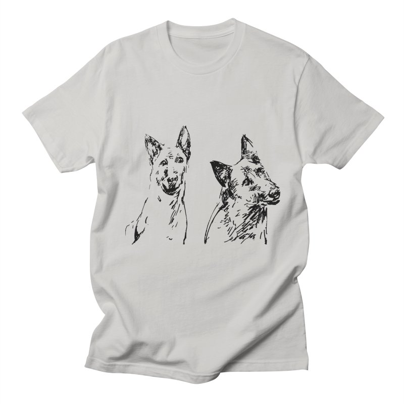 Two Dogs Men's T-Shirt by Dmitry Samarov's Artist Shop