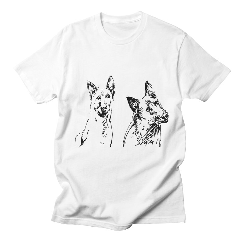 Two Dogs Men's T-Shirt by Dmitry Samarov's Artist Shop
