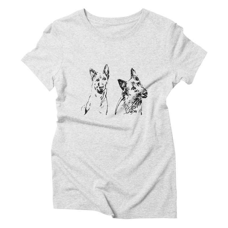 Two Dogs Women's Triblend T-Shirt by Dmitry Samarov's Artist Shop