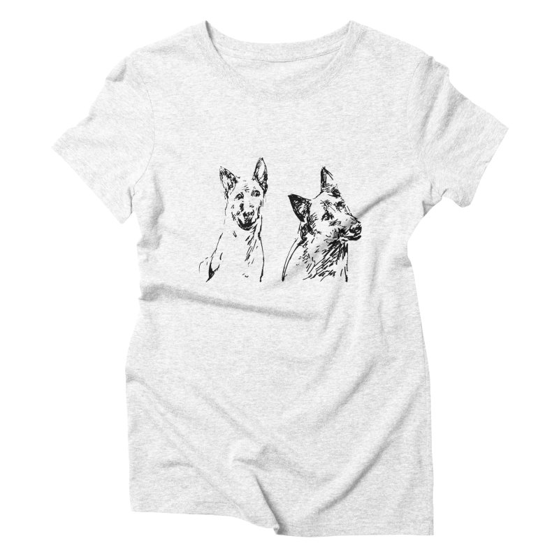 Two Dogs Women's Triblend T-shirt by Dmitry Samarov's Artist Shop