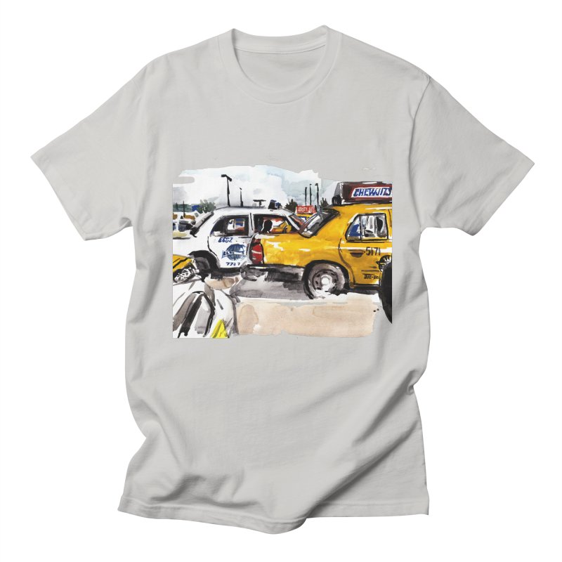 Cabs Men's Regular T-Shirt by Dmitry Samarov's Artist Shop