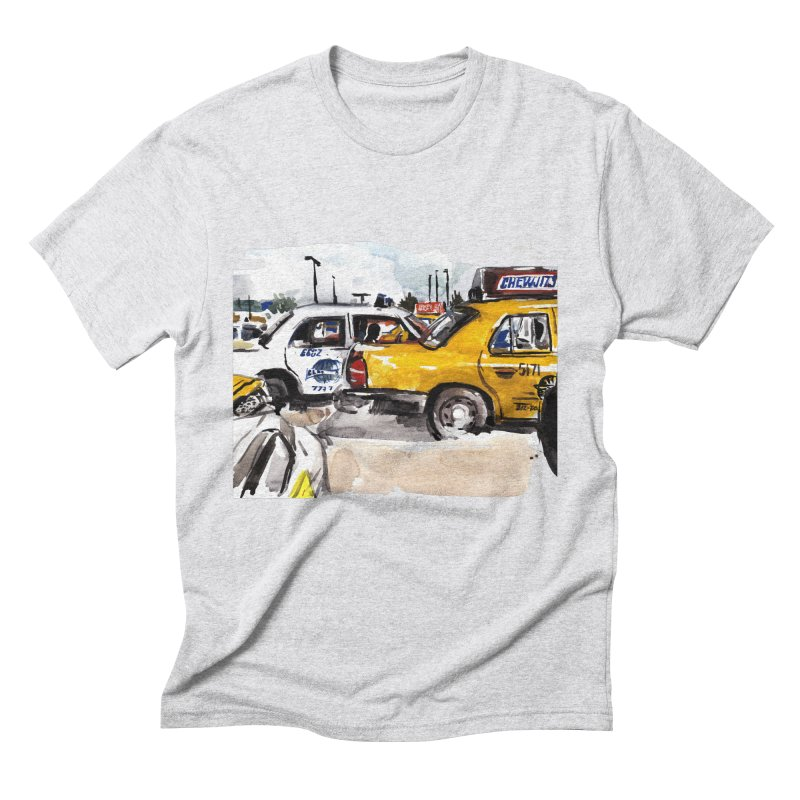 Cabs Men's Triblend T-Shirt by Dmitry Samarov's Artist Shop