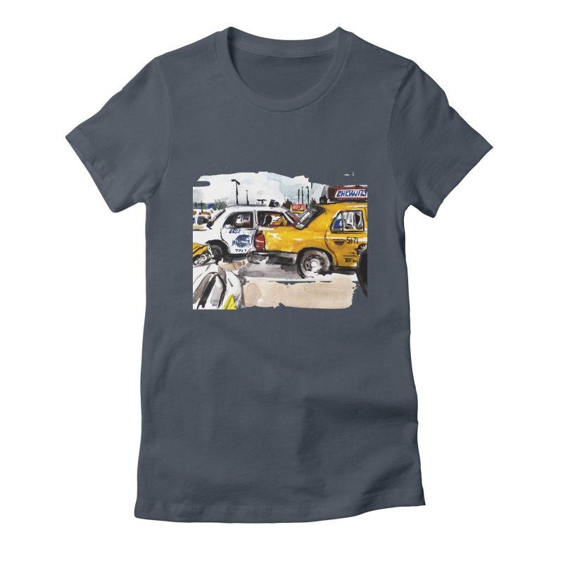 Cabs Women's T-Shirt by Dmitry Samarov's Artist Shop