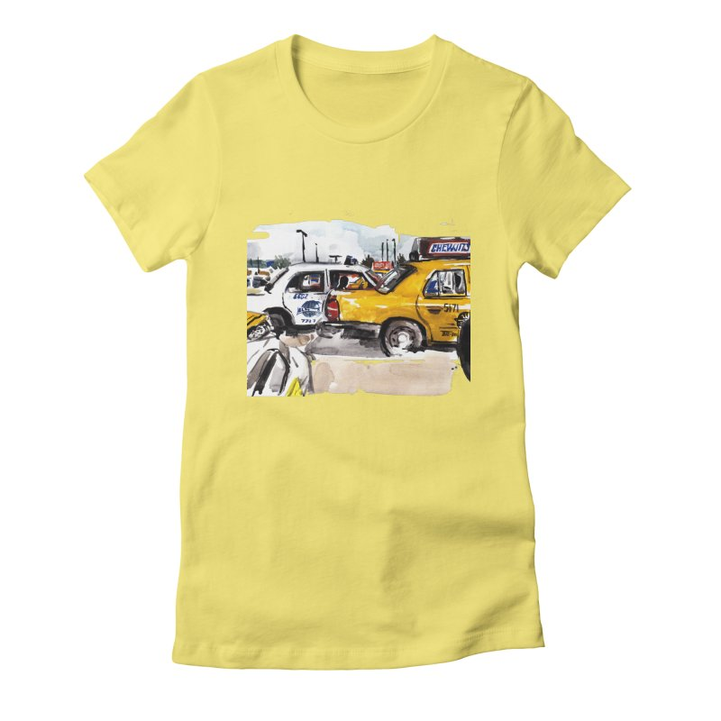Cabs Women's Fitted T-Shirt by Dmitry Samarov's Artist Shop