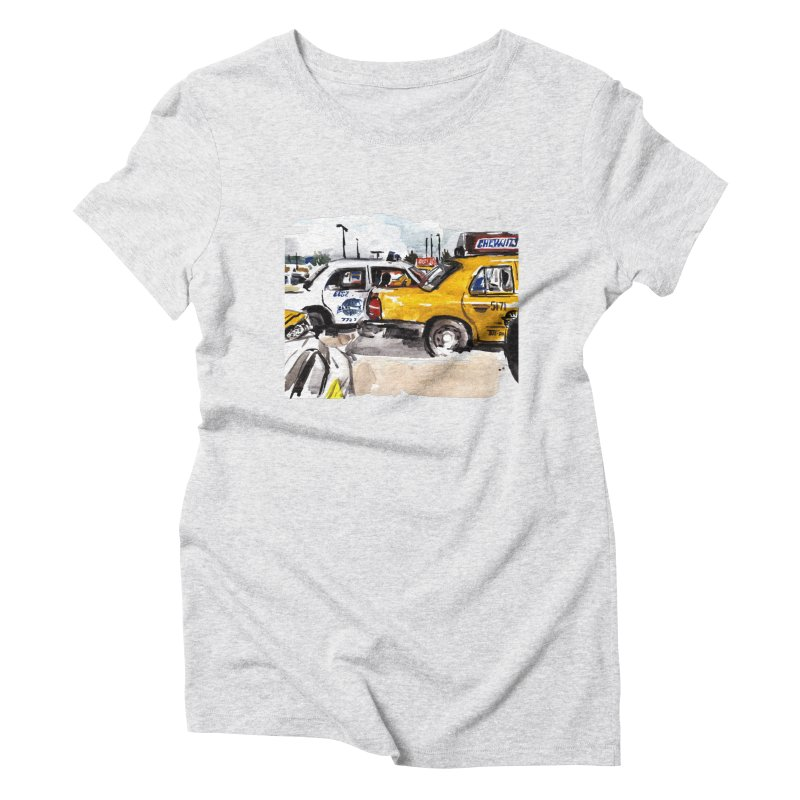 Cabs Women's Triblend T-Shirt by Dmitry Samarov's Artist Shop