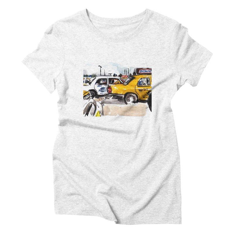 Cabs Women's Triblend T-shirt by Dmitry Samarov's Artist Shop