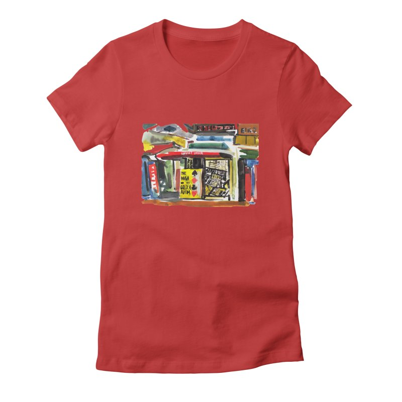 Chicago Books Women's Fitted T-Shirt by Dmitry Samarov's Artist Shop