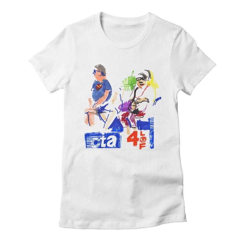 CTA Women's Fitted T-Shirt by Dmitry Samarov's Artist Shop
