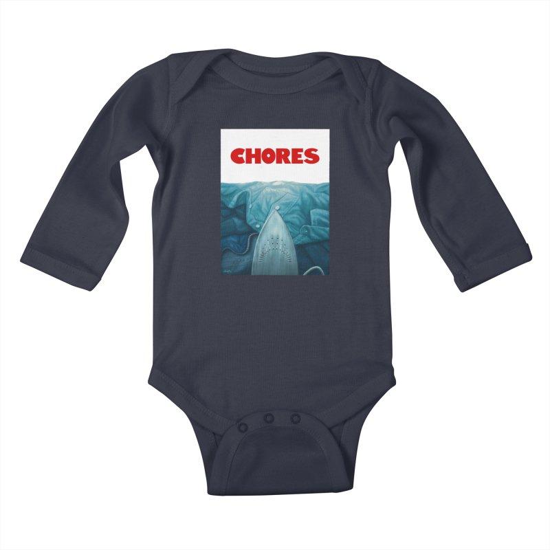 CHORES Kids Baby Longsleeve Bodysuit by Sam Gilbey