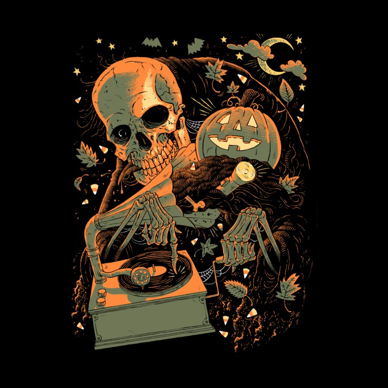 Spooky Sounds of the Season Men's T-Shirt by Sam Heimer