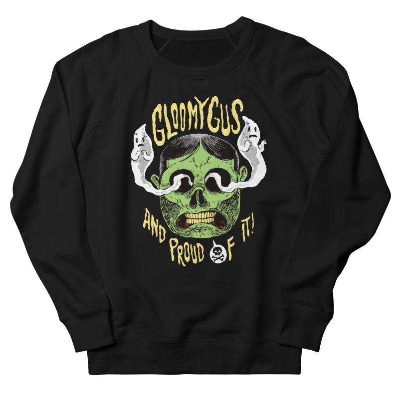 Gloomy Gus Women's French Terry Sweatshirt by Sam Heimer
