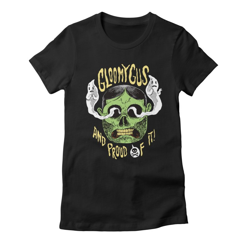 Gloomy Gus Women's Fitted T-Shirt by Sam Heimer