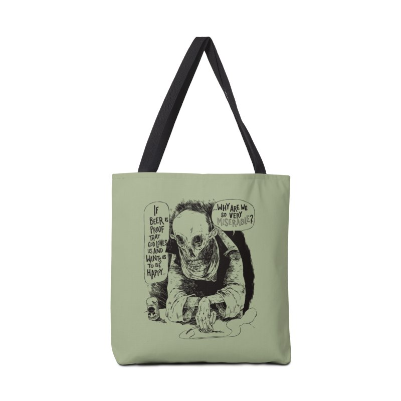 Miserable  Accessories Tote Bag Bag by Sam Heimer