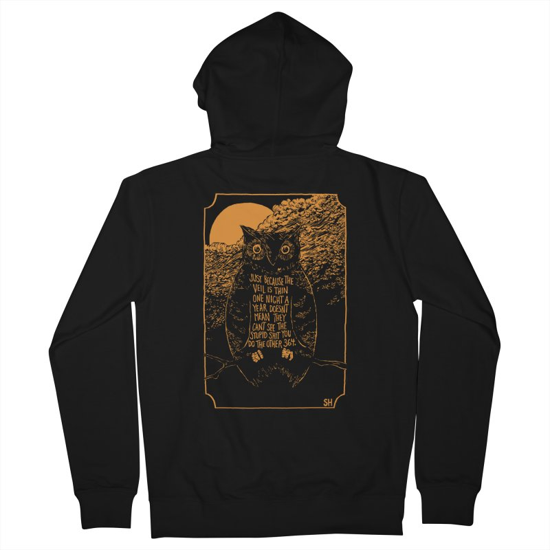 Shame Owl Men's French Terry Zip-Up Hoody by Sam Heimer