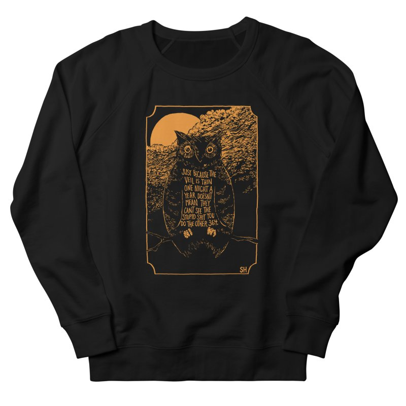Shame Owl Men's Sweatshirt by Sam Heimer