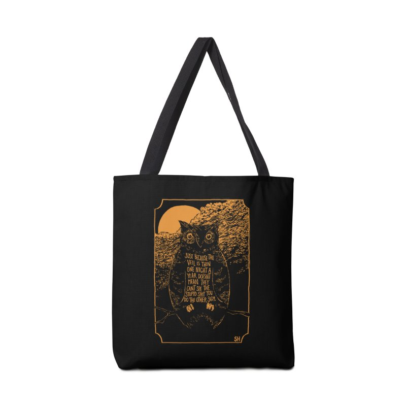 Shame Owl Accessories Tote Bag Bag by Sam Heimer