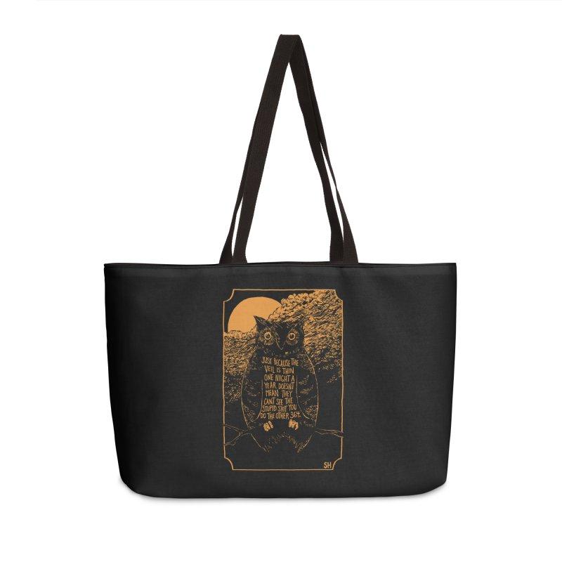 Shame Owl Accessories Weekender Bag Bag by Sam Heimer
