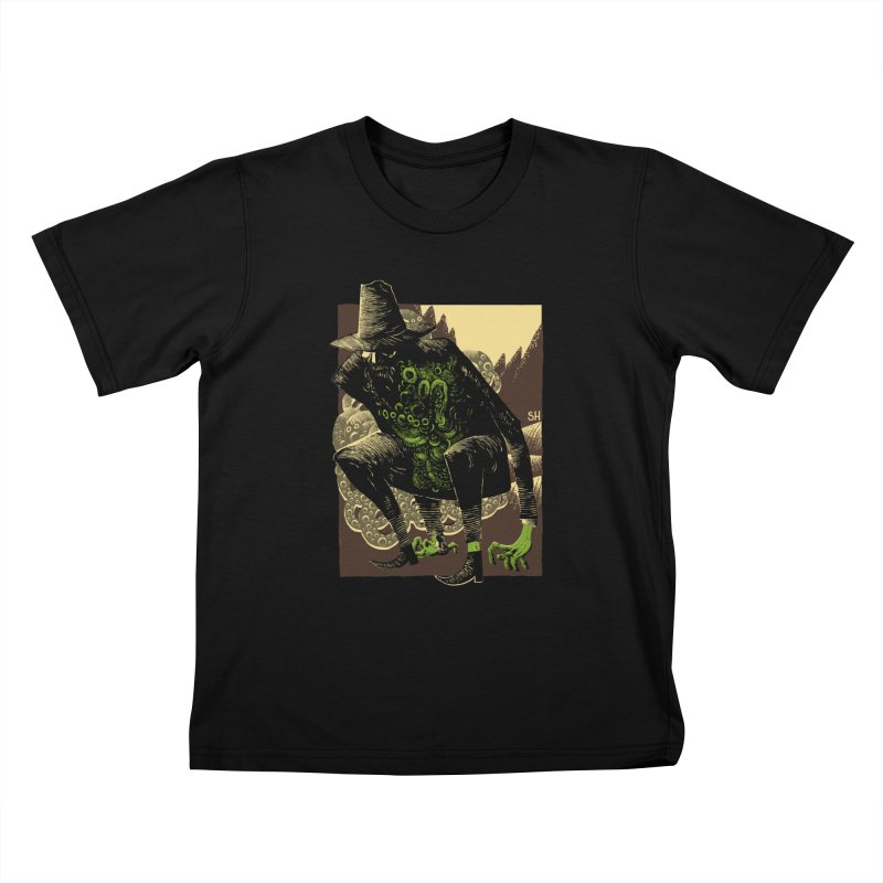 Wilbur Whateley Kids T-Shirt by Sam Heimer