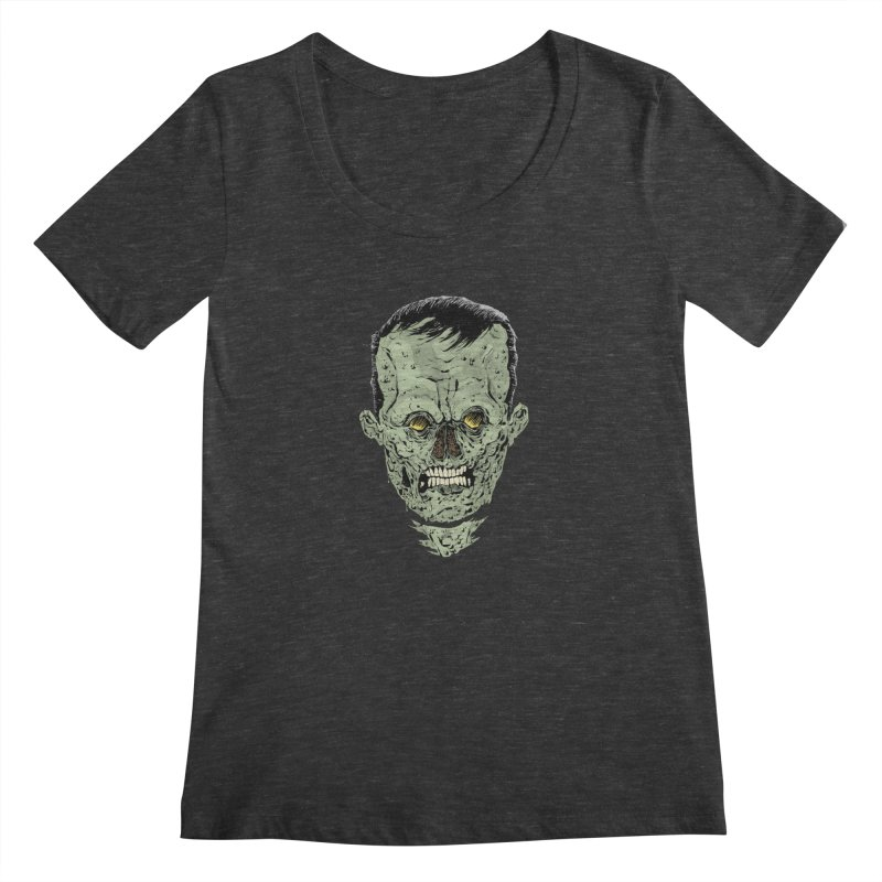 DEAD HEAD Women's Scoopneck by Sam Heimer