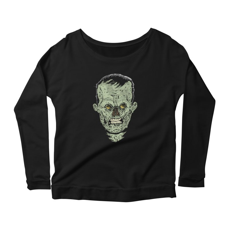 DEAD HEAD Women's Longsleeve Scoopneck  by Sam Heimer