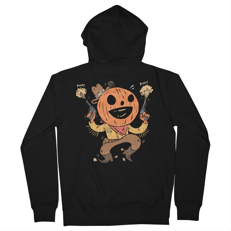 Giddy-Up Halloween! Men's Zip-Up Hoody by Sam Heimer