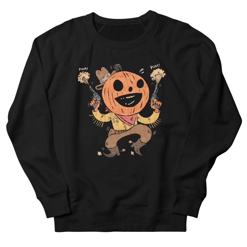 Giddy-Up Halloween! Men's French Terry Sweatshirt by Sam Heimer