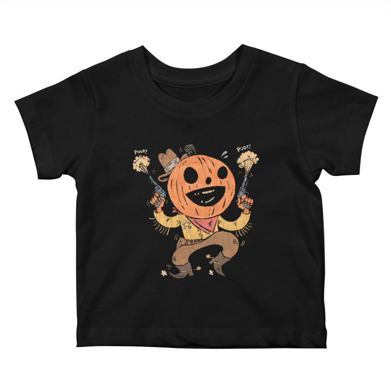 Giddy-Up Halloween! Kids Baby T-Shirt by Sam Heimer
