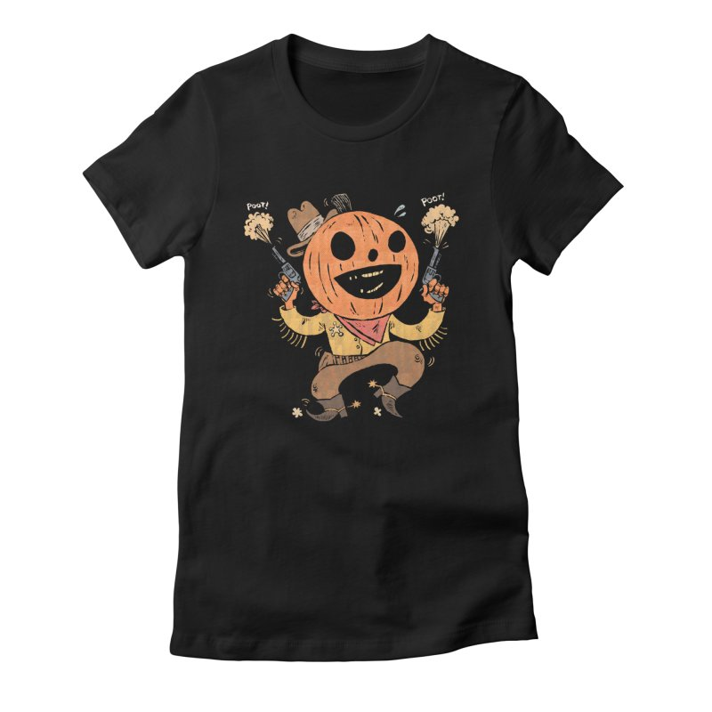 Giddy-Up Halloween! Women's Fitted T-Shirt by Sam Heimer